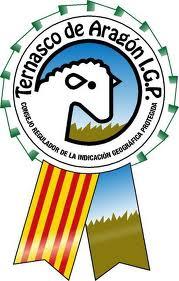 Sello de la IGP del Ternasco de Aragón.