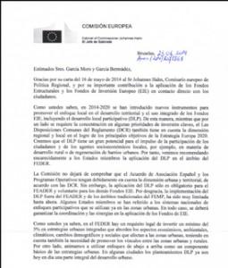 Carta de la Comisión Europea a la REDR sobre la conveniencia de utilizar el multifondo en Leader.