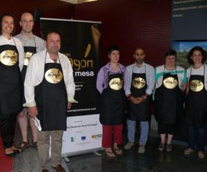 """Presentación de la red de tiendas """"Es bueno, es de Aragón"""" con el CEDER Somontano."""