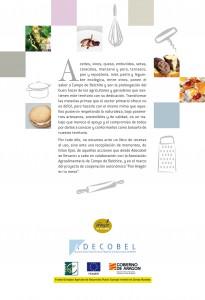 Adecobel. Libro 100 recetas de Campo de Belchite. Contraportada