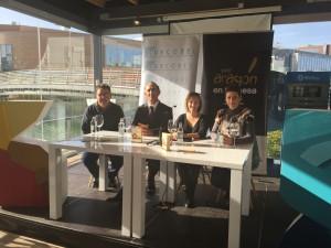 Participantes en la presentación de Ven y cómete el Campo de Belchite
